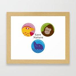 Save Nature Framed Art Print