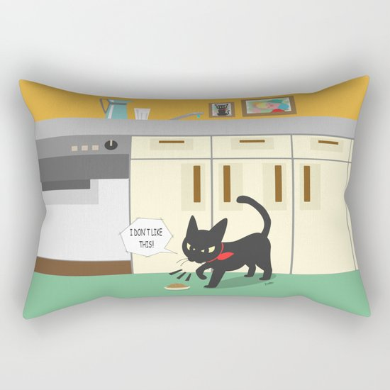 In the kitchen Rectangular Pillow