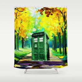 PAINTING TARDIS Shower Curtain