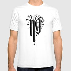 No SMALL Mens Fitted Tee White