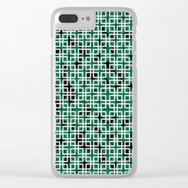 Square Leaves Clear iPhone Case