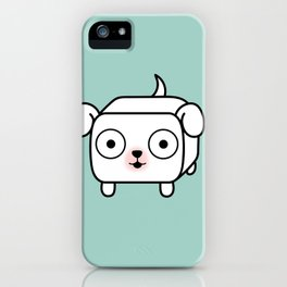 Pitbull Loaf - White Pit Bull with Floppy Ears iPhone Case