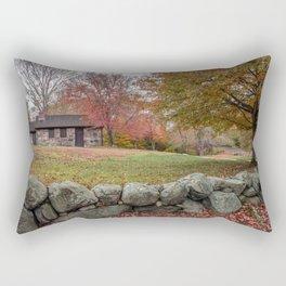 Babson Museum on a rainy October day 10-24-18 Rectangular Pillow