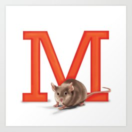M is for Mouse Art Print