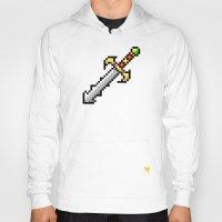 sword Hoodies featuring Sword by HOVERFLYdesign