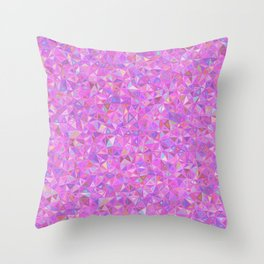 Purple Shards of Life Throw Pillow