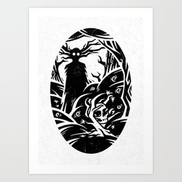 The Beast, The Voice of The Night Art Print