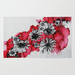 Red Flowers Rug