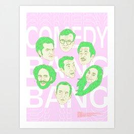 Comedy Bang Bang Art Print