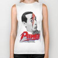 pee wee Biker Tanks featuring Pee wee by Iamzombieteeth Clothing