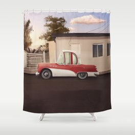 The Cuban Kingpin - Vintage car in the streets of Cuba Shower Curtain