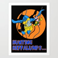 pooh Art Prints featuring Bat Pooh! by Purple Cactus