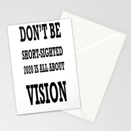 Don't Be ShortSighted 2020 Is All About Vision  Stationery Cards