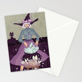 Crystal Witch Stationery Cards