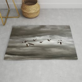 October Storm, Headed Home (Snow Geese) Rug