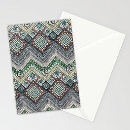 beaded chevron platinum Stationery Cards