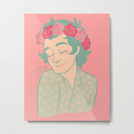 Flower Crown Metal Print