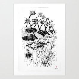 Foyer sauvage - Wild house Art Print
