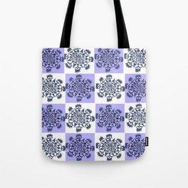 Blue Crown Quilt Tote Bag