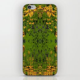 GREEN YELLOW RUDBECKIA DAISIES WATER REFLECTIONS iPhone Skin