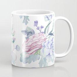 Pretty Blue Pink Succulents Garden Coffee Mug