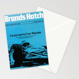 Vintage British 1970s Race Poster Stationery Cards