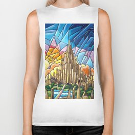 Asgard stained glass style Biker Tank