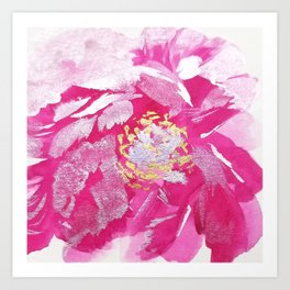 Pretty Pink Peony Art Print
