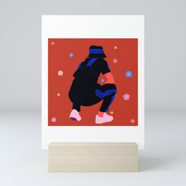 seated Mini Art Print