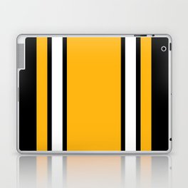 Pittsburgh Black And Yellow Abstract Laptop & iPad Skin