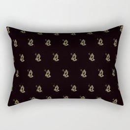 6 God - Black Rectangular Pillow