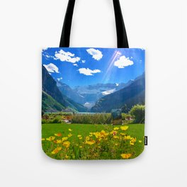 Lake Louise, Beautiful Day Tote Bag