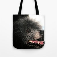 poodle Tote Bags featuring poodle by Richard PJ Lambert