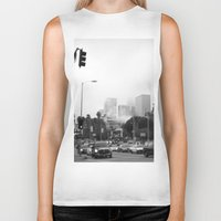 los angeles Biker Tanks featuring Los Angeles by XtinaYo