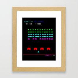 Invaders game Framed Art Print