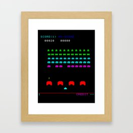 Invaders game Framed Art Print