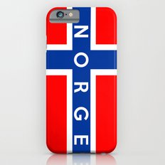 norway country flag norge name text iPhone 6s Slim Case