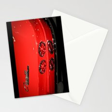 Red Corvette Sting Ray Car Stationery Cards