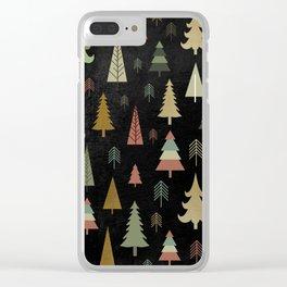 Chalkboard Christmas Pattern 02 Clear iPhone Case