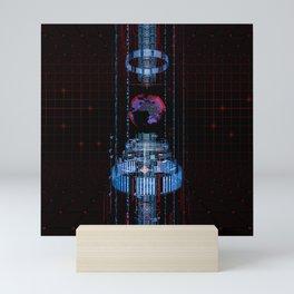 Virtual Data Earth Mini Art Print
