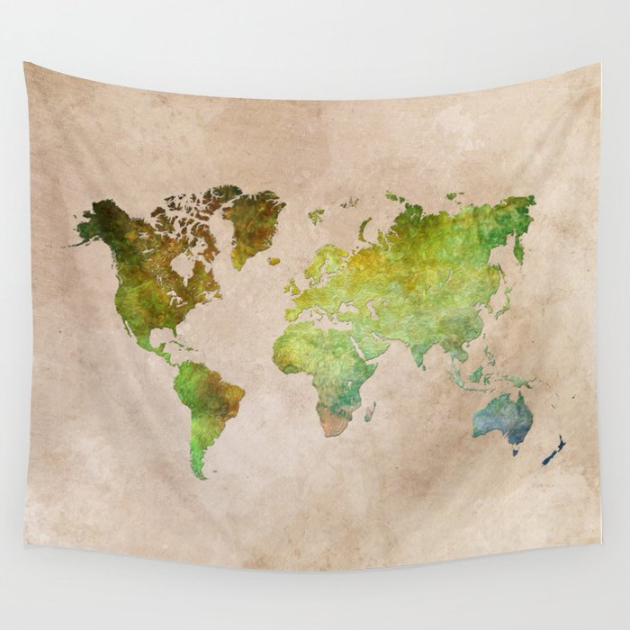 Green World Wall Tapestry
