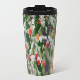 So many wild berries in the snow Travel Mug