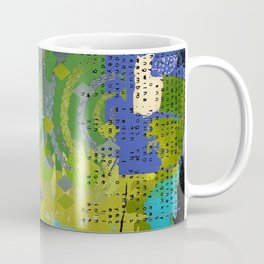 Being Green Abstract Art Collage Coffee Mug