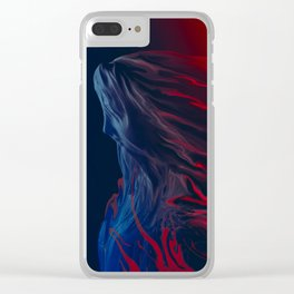 Red Veil III Clear iPhone Case
