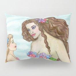 Awaiting the Arrival Pregnancy Mermaid Daughter Motherhood Nursery Pillow Sham