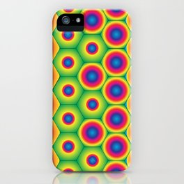 Rainbow Hexagon iPhone Case