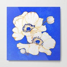 Ultramarine Blue :: Anemones Metal Print