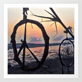A peace-full sunset #3 Art Print