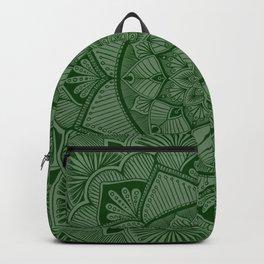 Forest Green Mandala 2 Backpack