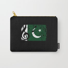 Pakistan Flag Music Carry-All Pouch